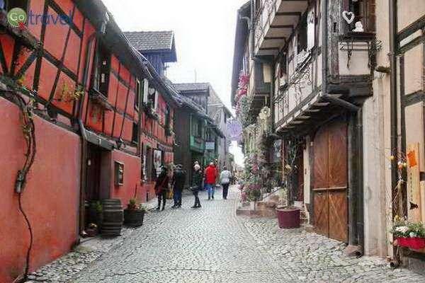 העיירה הציורית ריקוויר, טעימות מחבל אלזס  (צילום: נקדימון חיימן)