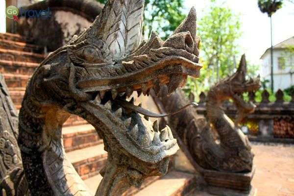 דרקונים המגנים על המקדש (צילום: Chris Feser)