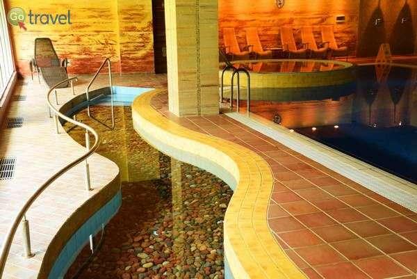 הבריכה במלון ספא וילנוס בעיירה דרוסקינינקאי  (צילום: כרמית וייס)