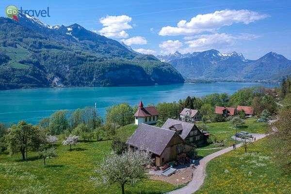 אגם ואלן  (צילום: Walter Schärer)