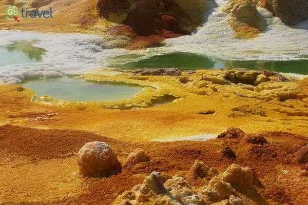 תצורות מלח באגמי הגופרית  (צילום: ציפי סרן)