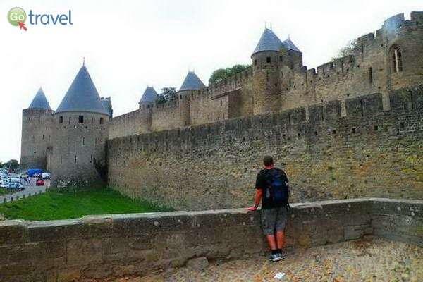 חומות המצודה של קרקסון  (צילום: כרמית וייס)