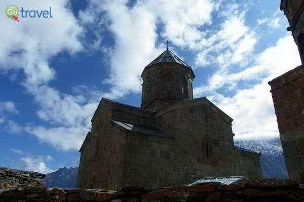 כנסיית טריניטי סמבה, למרגלות הר קזבג  (צילום: גלעד תלם)