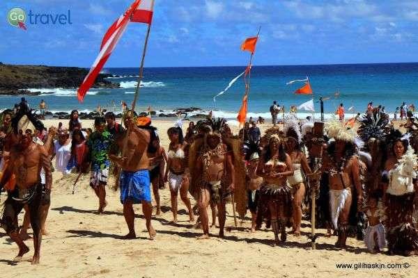 תושבי האי פסחא - עדיין שקועים במסורת (צילום: גילי חסקין)