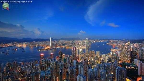 מבט מהגבעה באי הונג קונג  (צילום: Central_Eugene Lim)