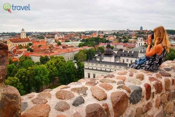 תצפית על העיר וילנה מהמבצר (צילום: כרמית וייס)