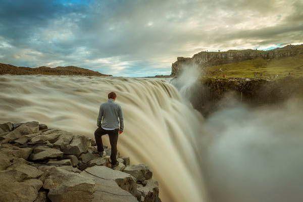 כמויות מים אדירות במפל דטיפוס   (צילום: Drantcom)