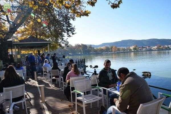 בית קפה לחופי האגם - תמיד מלא...  (צילום: כרמית וייס)