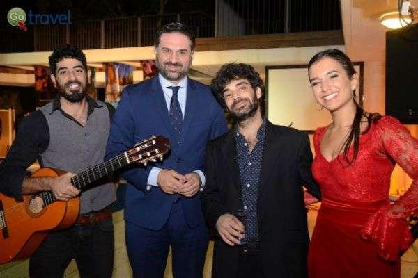 שר התיירות חוגג את פתיחתו של הקו הישיר החדש (צילום: שגרירות ספרד)