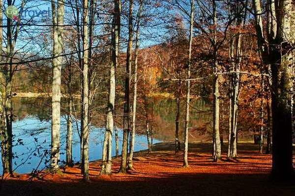 אגם וידרארו בשלכת של אוקטובר  (צילום: גלעד תלם)