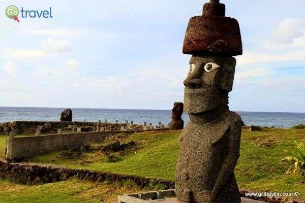 האי אפוף מסתורין - מדוע נבנו הראשים ולאן נעלמו התושבים? (צילום: גילי חסקין)