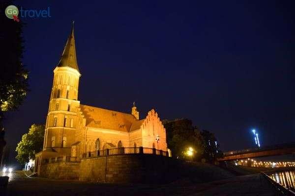 כנסיית ויטוטאס הגדול בלילה   (צילום: כרמית וייס)