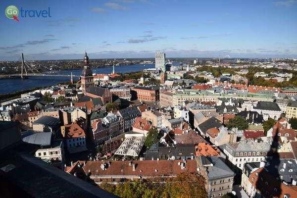 תצפית על העיר העתיקה של ריגה   (צילום: כרמית וייס)