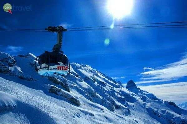הרכבל לפסגת הר טיטליס בשוויץ - 3,240 מ'  (צילום: Björn Söderqvist)