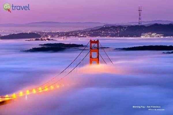 גשר הזהב בערפל של בוקר  (צילום: David Yu)