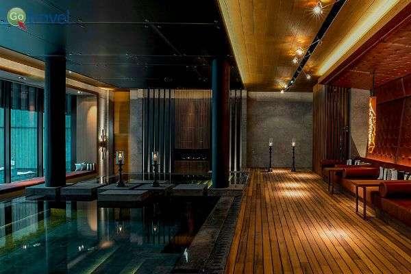 בריכת מים חמים במלון דה שדי