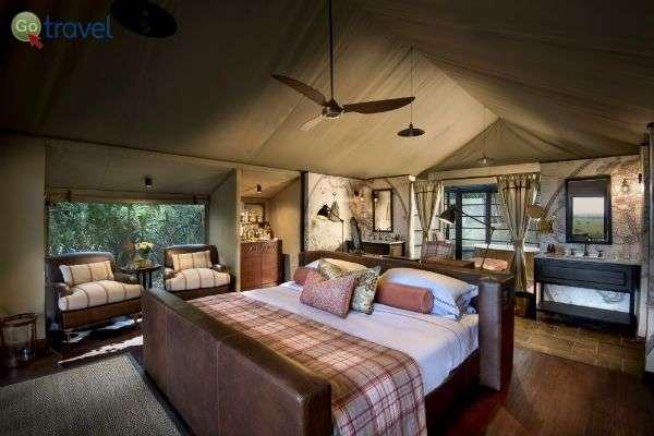 אוהלים מפנקים בלב השמורה (צילום באדיבות: Bateleur Camp)