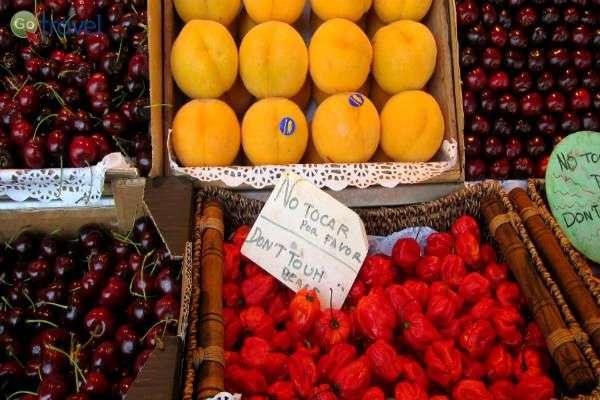פירות וירקות טריים בשוק, מעורר תיאבון (צילום: צחי בוקששתר)