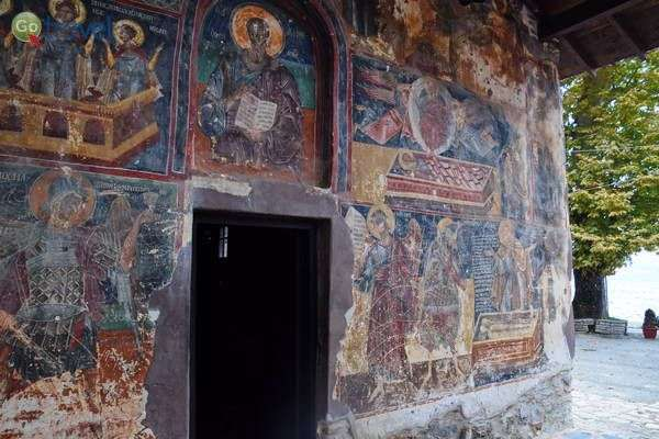 ציורי קיר על כנסייה ביזנטית   (צילום: כרמית וייס)
