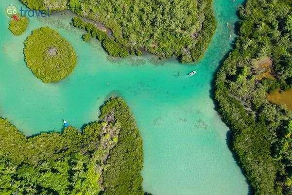 שייט קיאקים בין איי מנגרובים   (צילום: עמית אופיר)