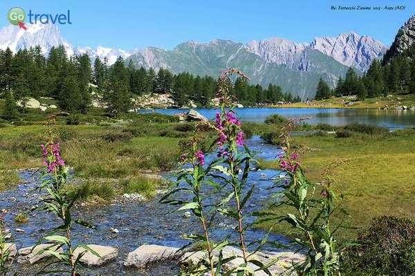 אגם אלפיני בהרים  (צילום: Ferruccio Zanone)