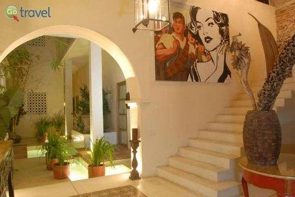 לובי בית המלון המקסים קאסה לולה (צילום: קאסה לולה)