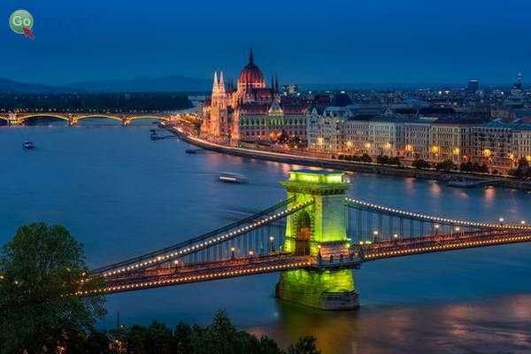 גשר השלשלאות וגשר מרגיט  (צילום:Thomas D Mørkeberg)