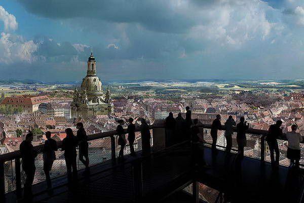 מבט פנורמי על העיר דרזדן וכנסיית גבירתנו   (צילום: asisi F&E GmbH)