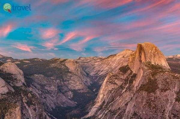 שקיעה על Half Dome  (צילום: Andrew Kearns)