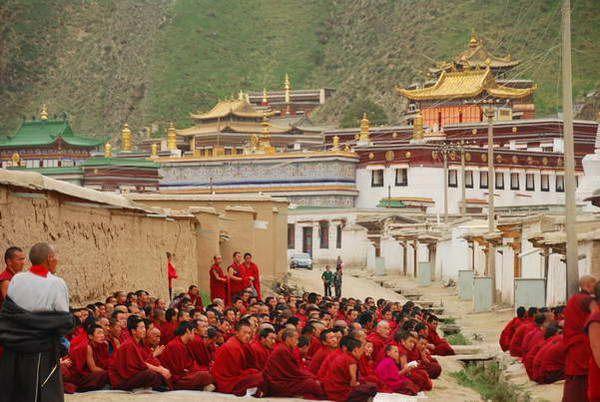מנזר לאבארנג בשיאחה, סין  (צילום: הילה וייס)
