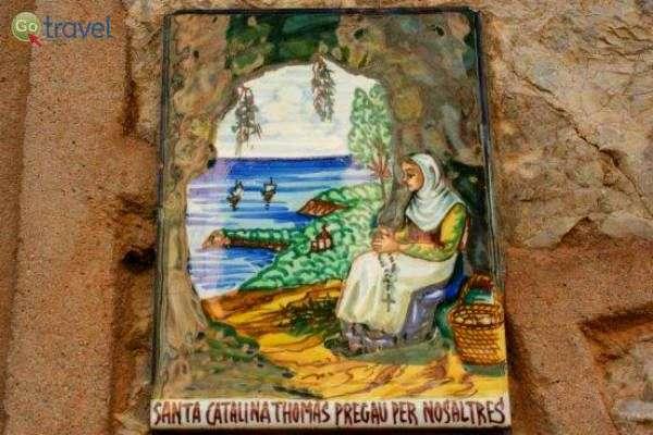 """איורים על קירות בתי ולדמוסה (צילום: ד""""ר שלמה צדקיהו)"""