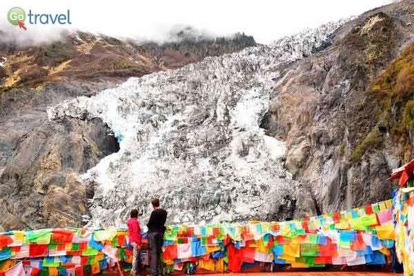 קרחון מיניונג למרגלות הר קאווה קרפו  (צילום: כרמית וייס)