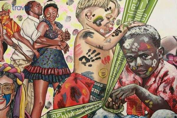 ציור קיר - פסטיבל השחורים-לבנים (צילום: Carlos Adampol Galindo)