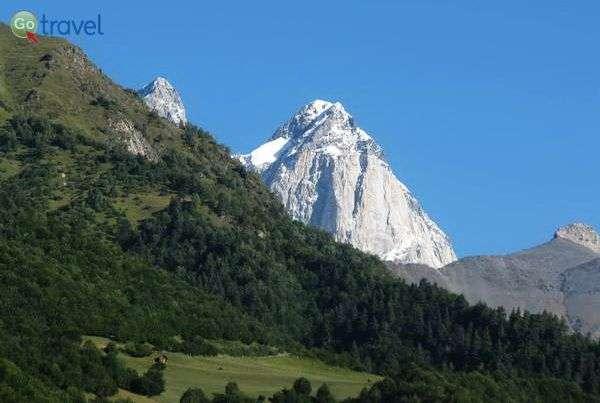 פסגת הר אושבה המושלגת  (צילום: גלעד תלם)