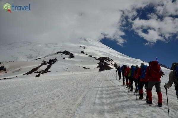 בדרך לפסגה הגבוהה באירופה  (צילום: חזי שקד)