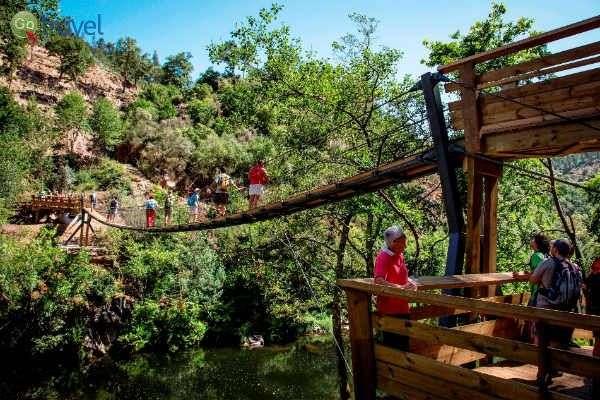 גשרים תלויים בשמורת פנדה ג'רש (צילום באדיבות Ricardo Neves, הפארק הגיאולוגי ארוקה)