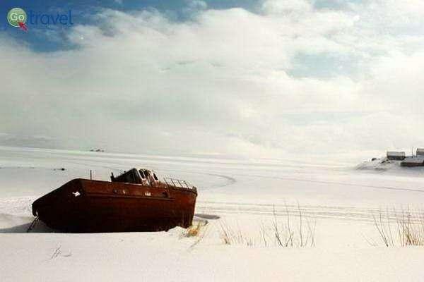 אגם טבצ'קורי הקפוא (צילום: גלעד תלם)
