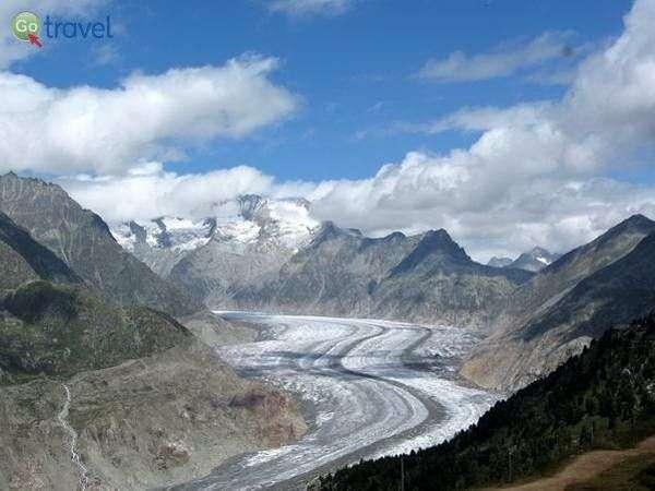 קרחון אלטש  (צילום: Andrew and Annemarie)