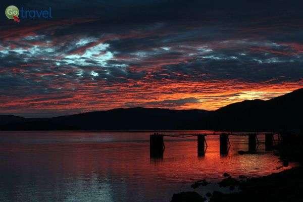 כך נגמר לו עוד יום קסום באלסקה (צילום: עופר גלמונד)