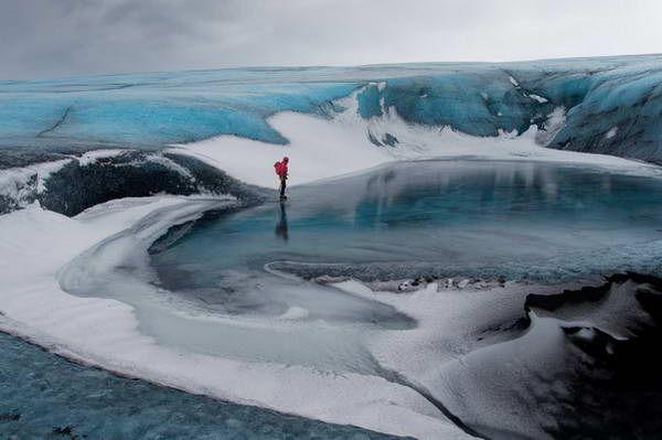 מים, שלג וקרח - קרחון ואטנאיוקול (צילום: Peter Gege)