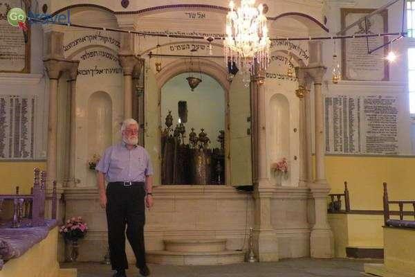 פרופ. אליסאף, ראש הקהילה היהודית ביואנינה  (צילום: כרמית וייס)