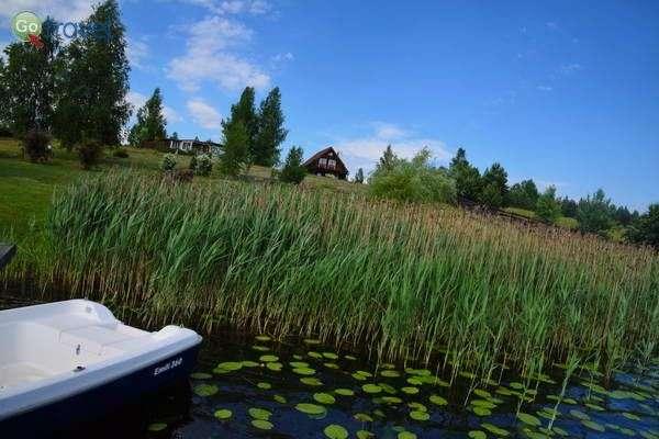 הבקתות של תמרה לצד האגם  (צילום: כרמית וייס)