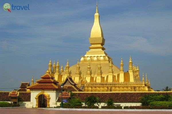 מקדש הזהב - פא תאט לואנג (צילום: Chris Feser)