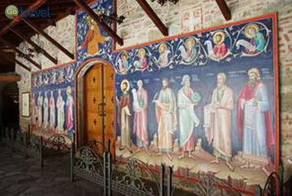 ציורי קיר במנזרי מטאורה   (צילום: כרמית וייס)