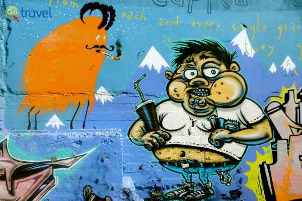 גרפיטי ואמנות רחוב בסגנון מקומי (צילום: CC Sarah Ackerman)