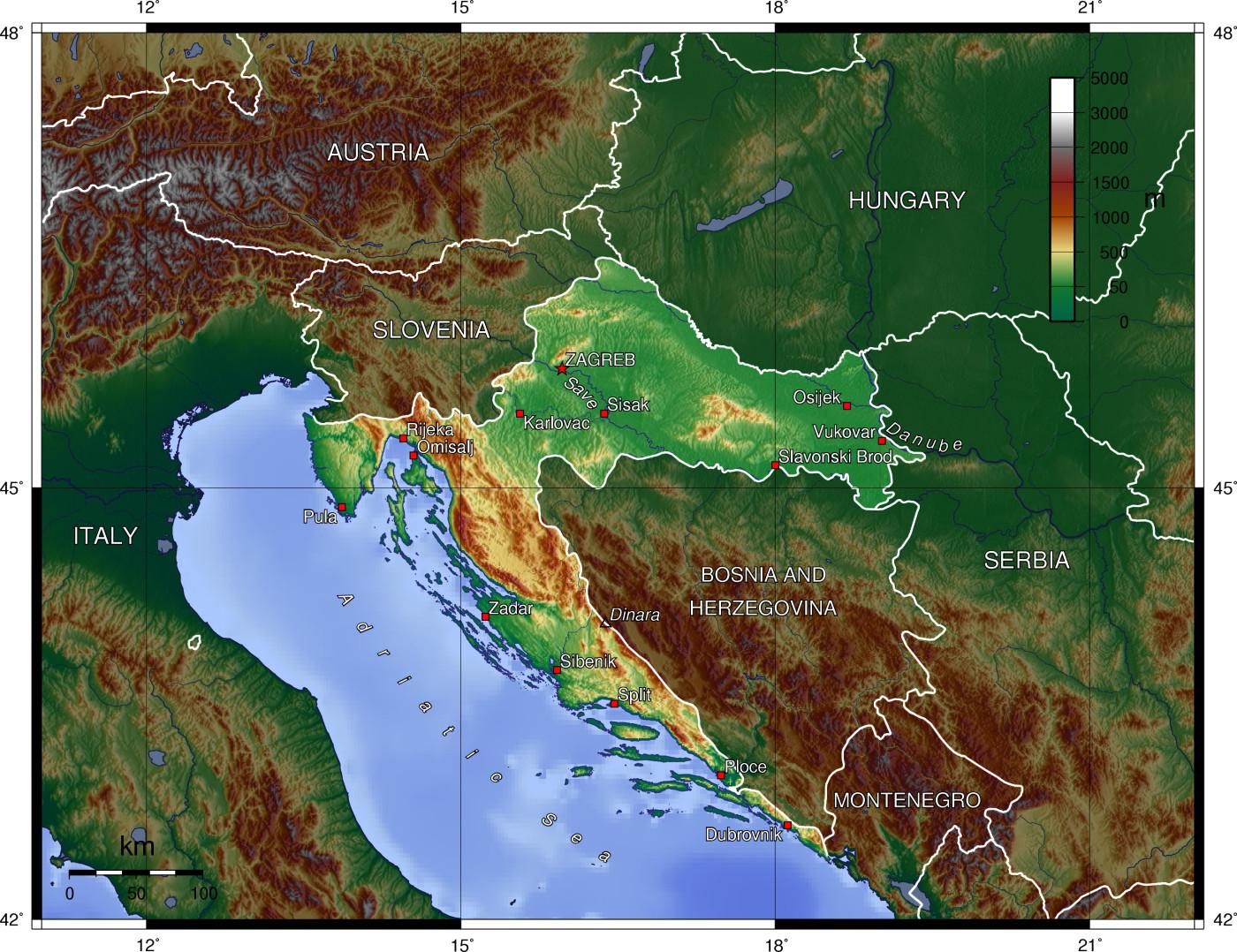 מעולה  גיאוגרפיה של קרואטיה - GoTravel US-54