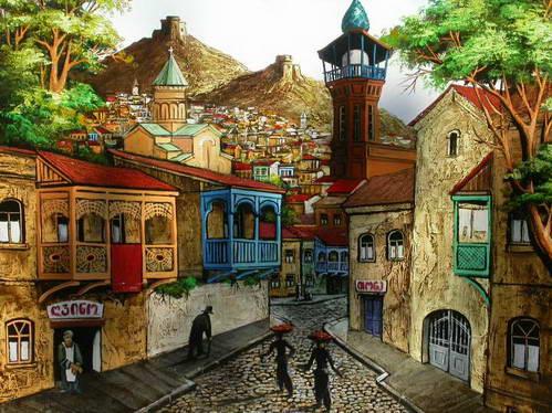 ציור רחוב גאורגי, טביליסי