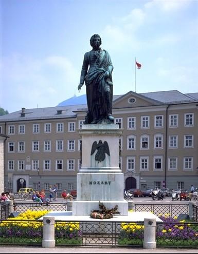 פסל מוצרט, זלצבורג, אוסטריה