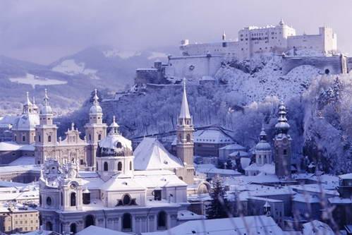 זלצבורג בחורף, אוסטריה