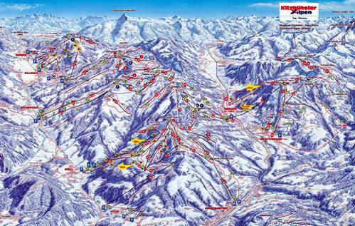 מסלולים באתר הסקי סקיוולט, אוסטריה